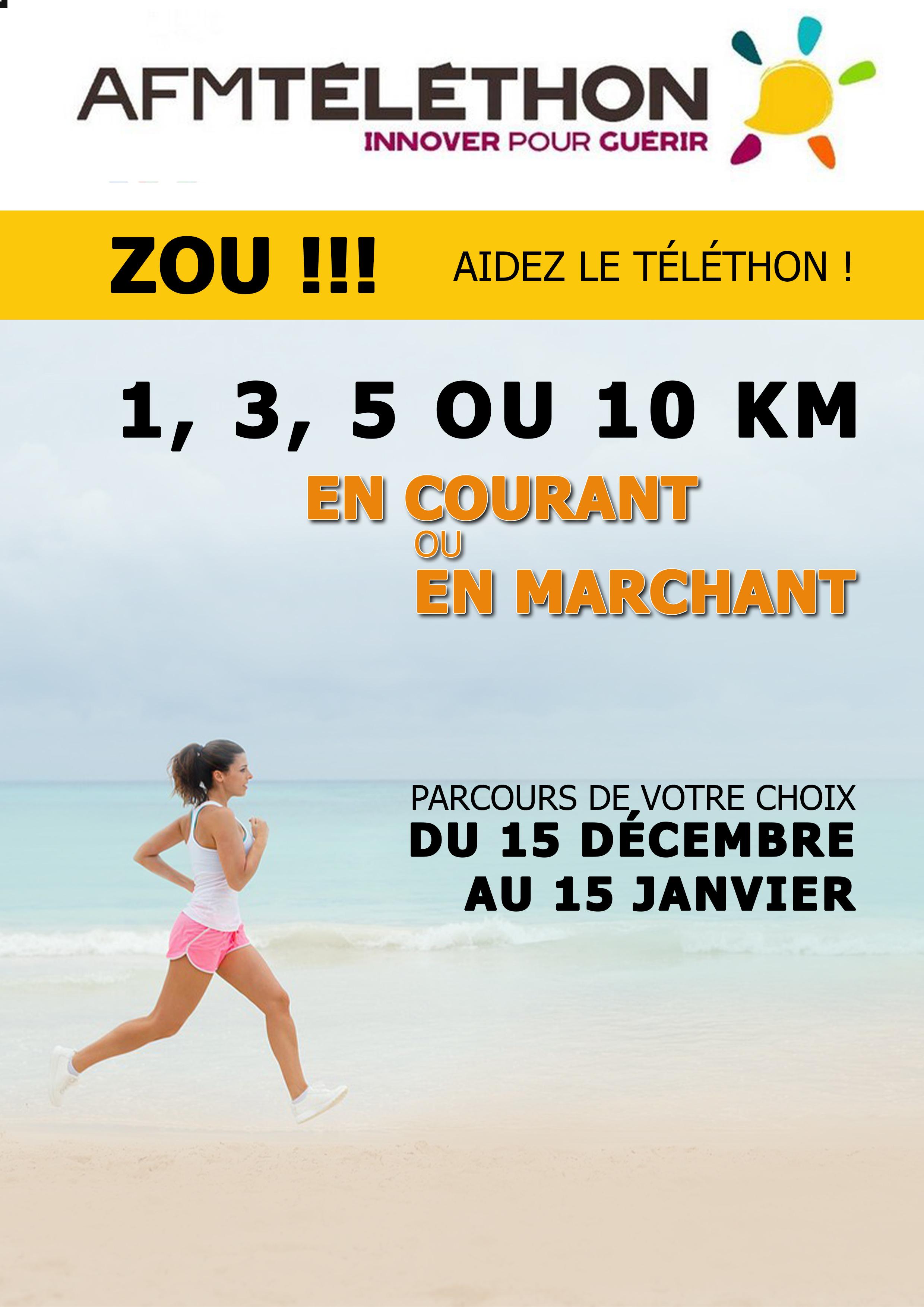 Affiche ZOU! AIDEZ LE TELETHON!