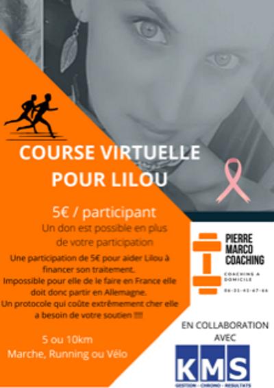 Affiche Course virtuelle pour LILOU