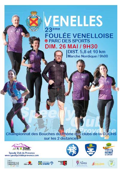 La Foulée Venelloise : Marche Nordique 5.8km