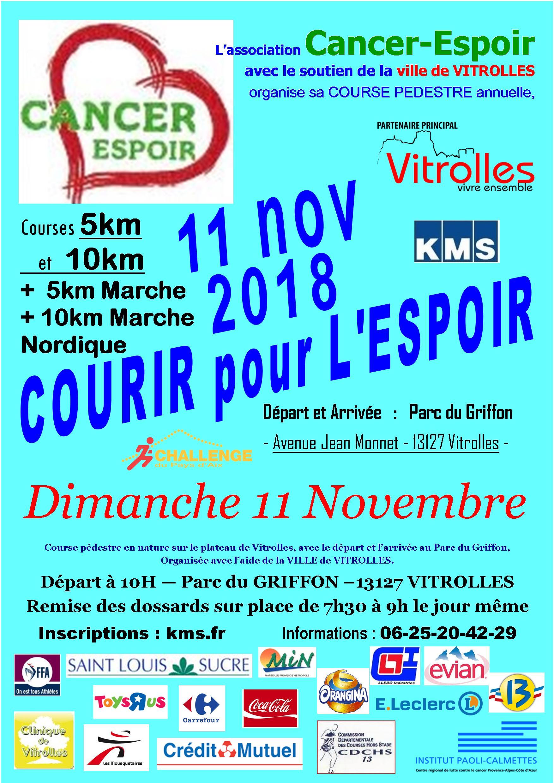 Courir pour l'espoir : Course 10 km