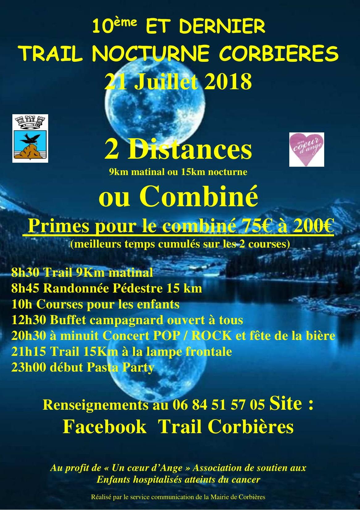 Trail nocturne de Corbières - 15KM