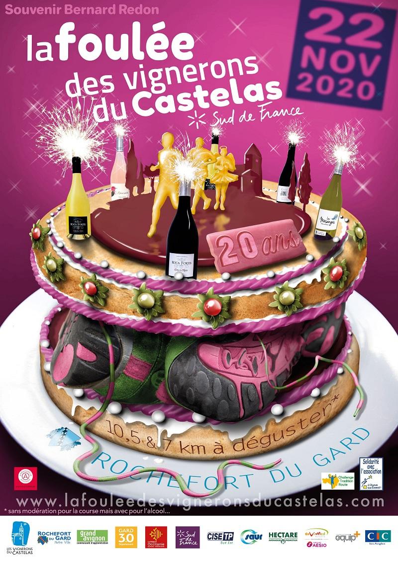 Affiche La Foulée des Vignerons du Castelas