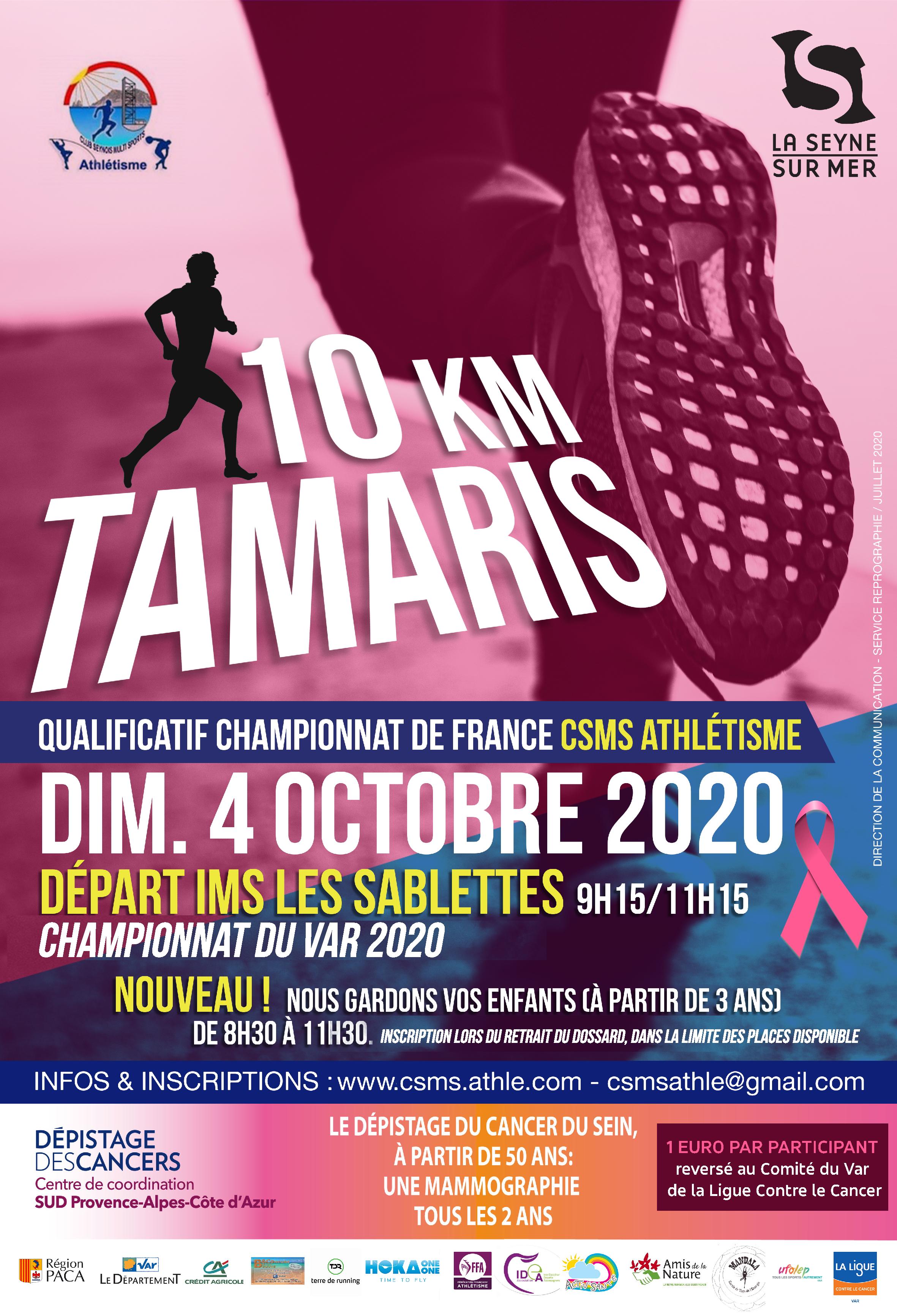 Affiche 10Km de TAMARIS