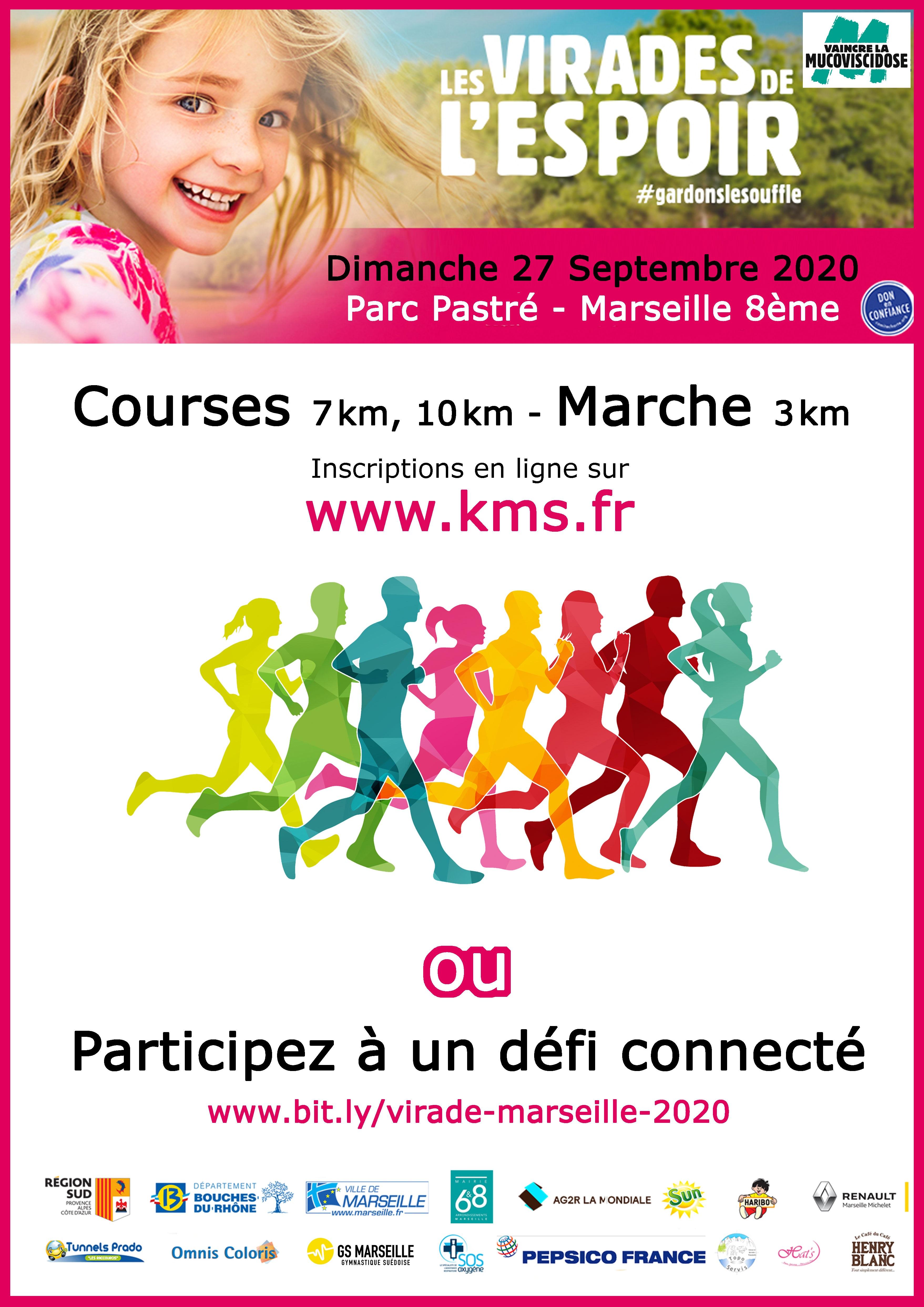 Affiche Course du Souffle de Marseille <br> Les virades de l'espoir