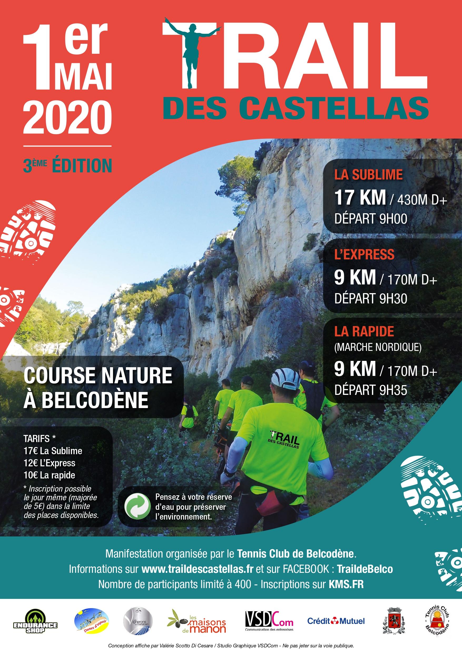 Trail des Castellas - Marche Nordique La Rapide - 9km
