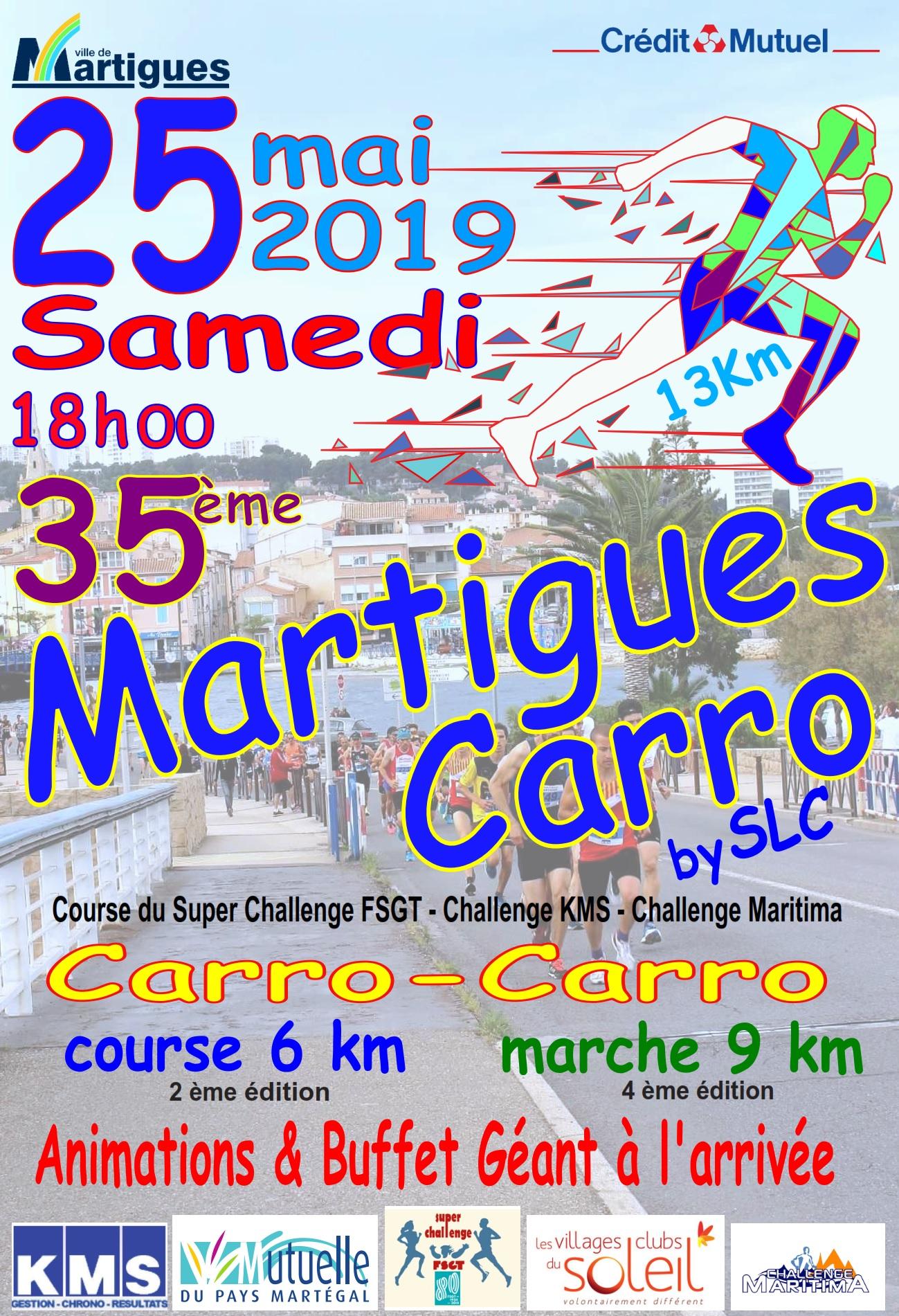 Martigues - Carro : Marche 9km