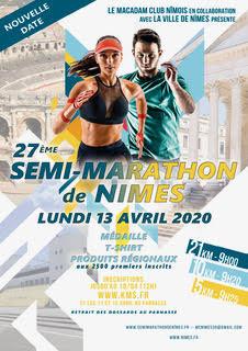 Affiche 5Km, 10Km et Semi Marathon de Nimes