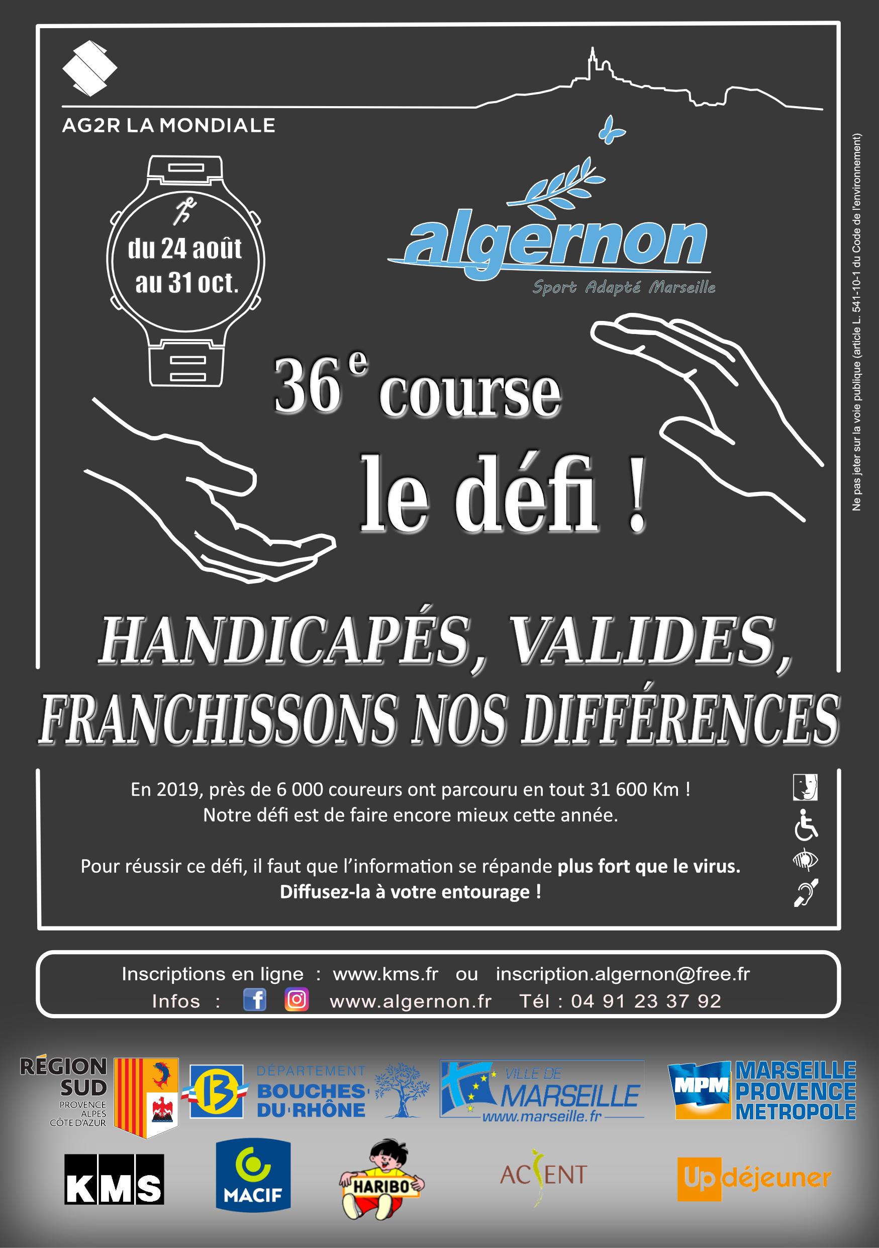Affiche ALGERNON : Course de l'intégration