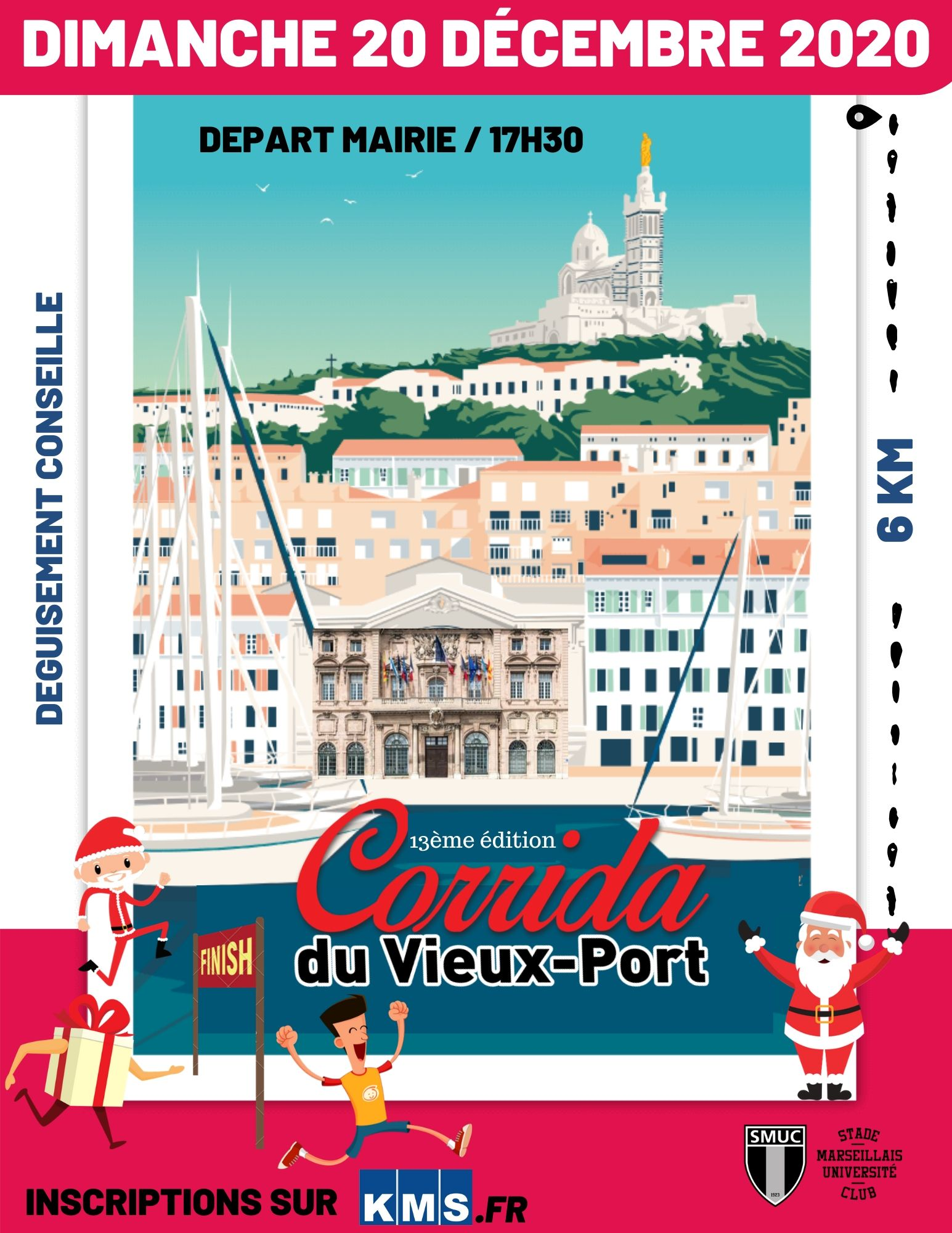 Affiche La Corrida du Vieux Port de Marseille