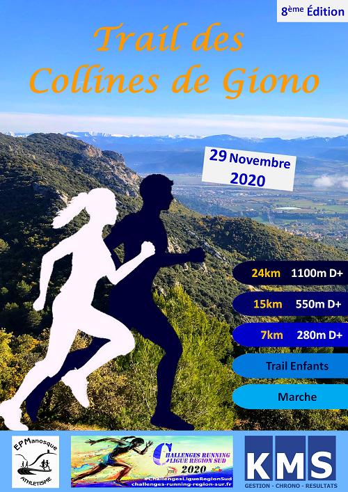Affiche Trail des Collines de Giono