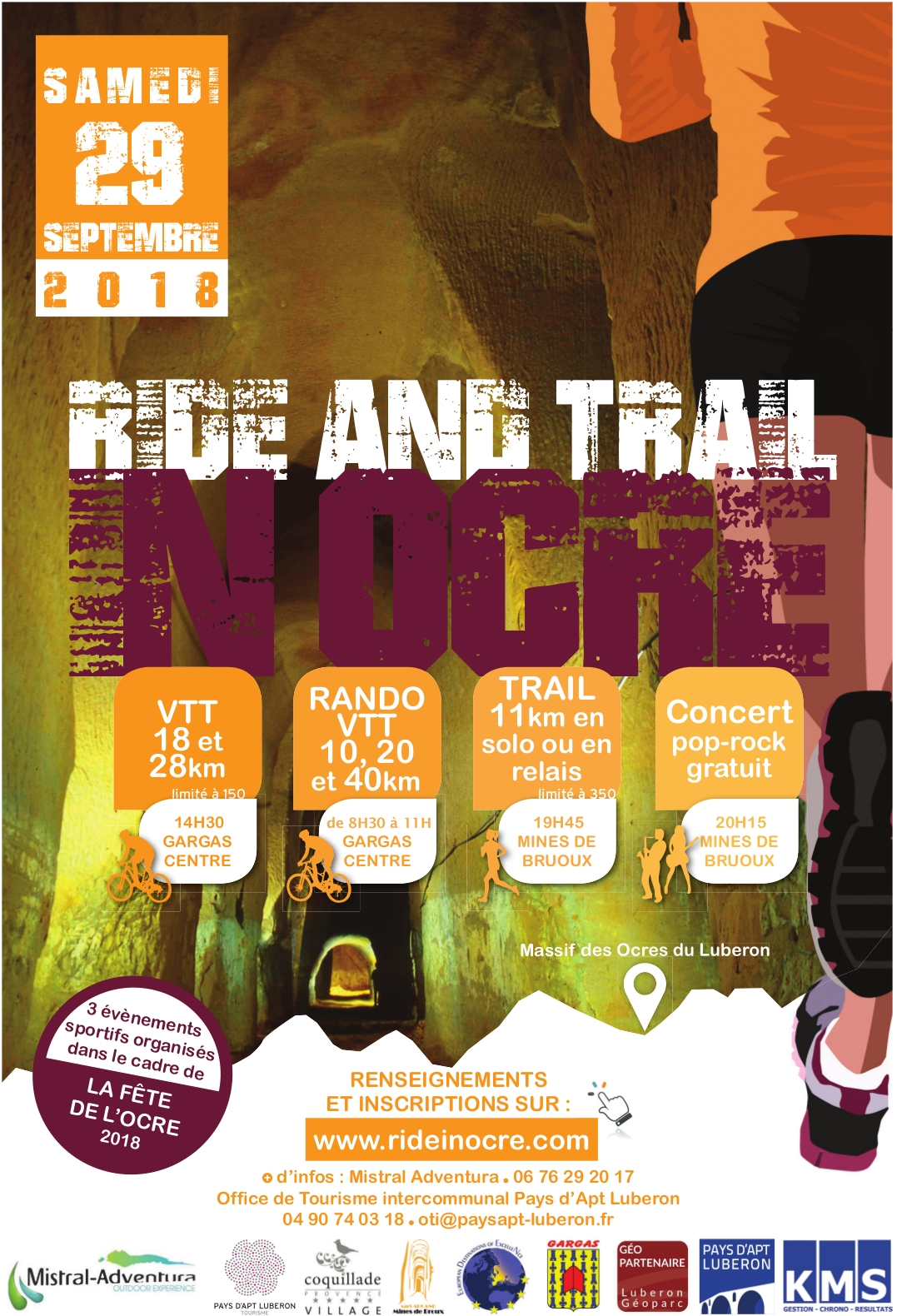 Ride & Trail In Ocre : Rando VTT 10km , 20km & 40km