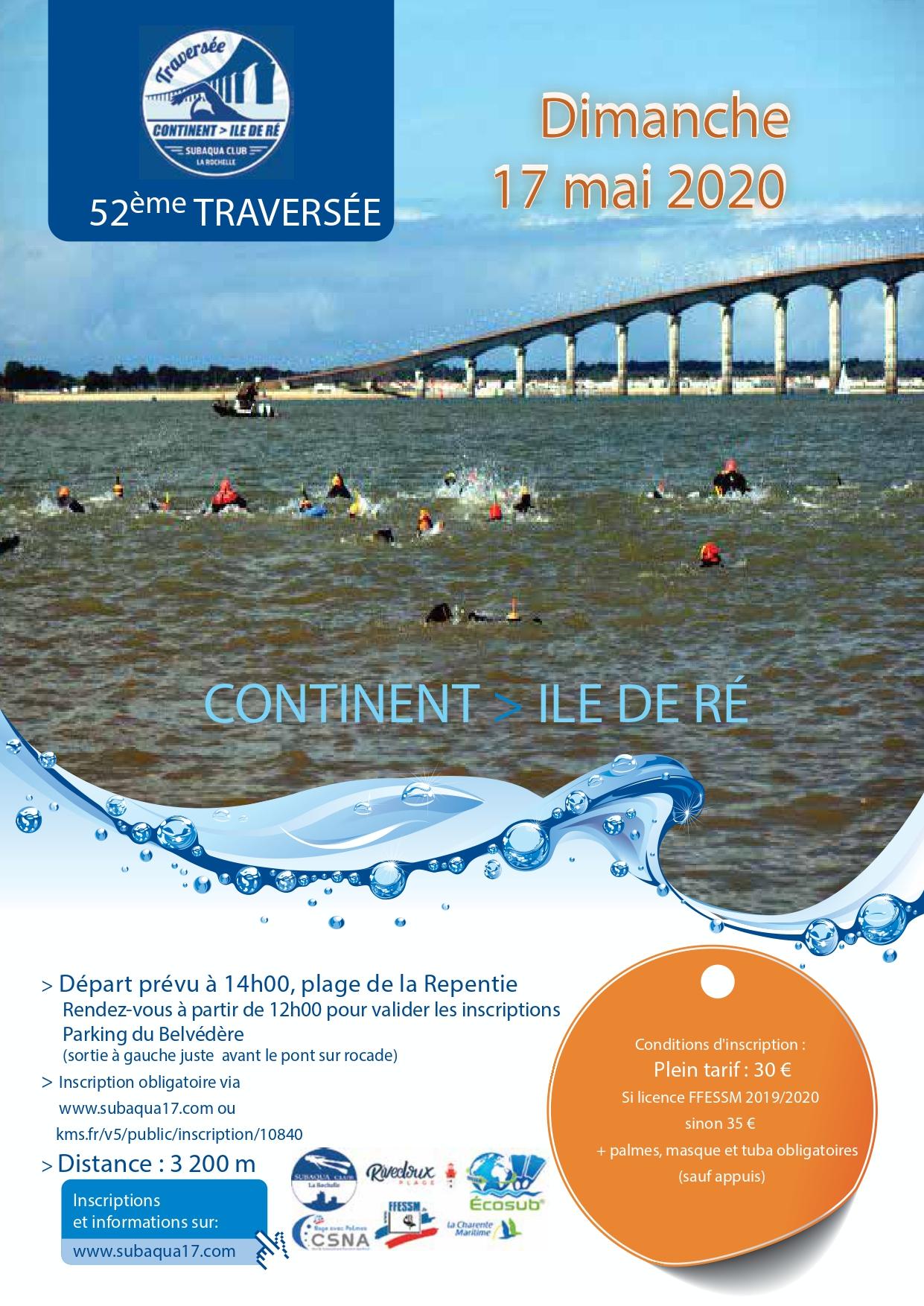 Affiche Traversée : Continent --> île de Ré