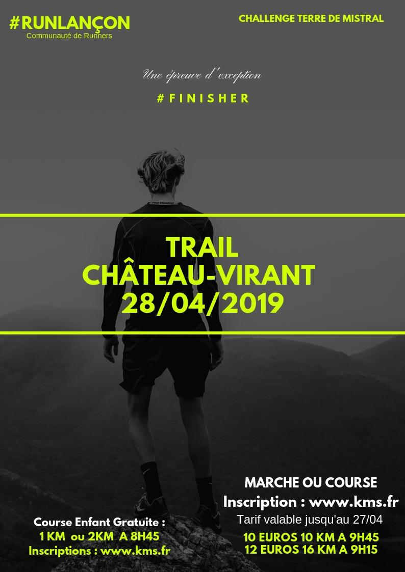 Course Trail de Chateau-Virant 16 KM