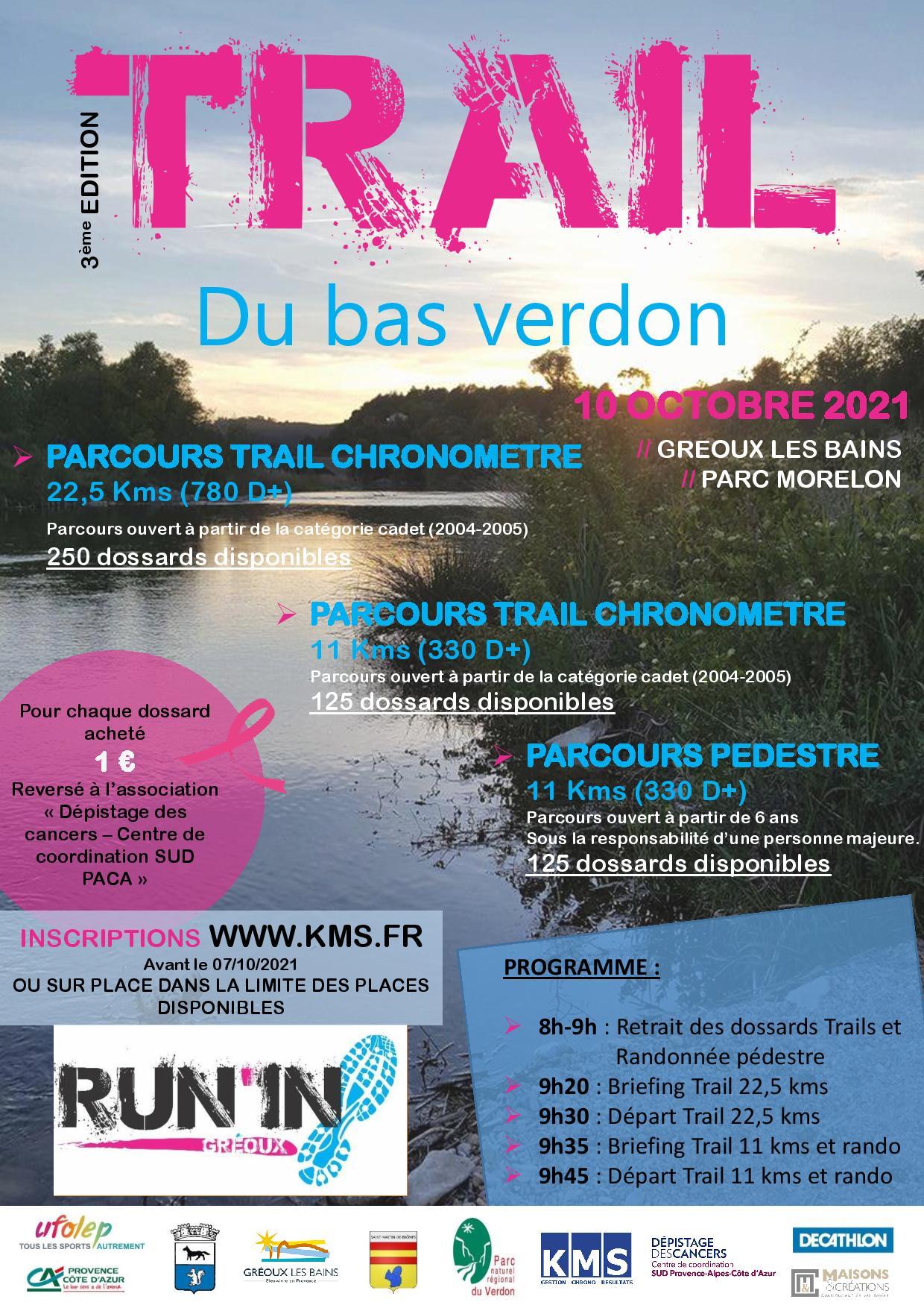 Trail du Bas Verdon