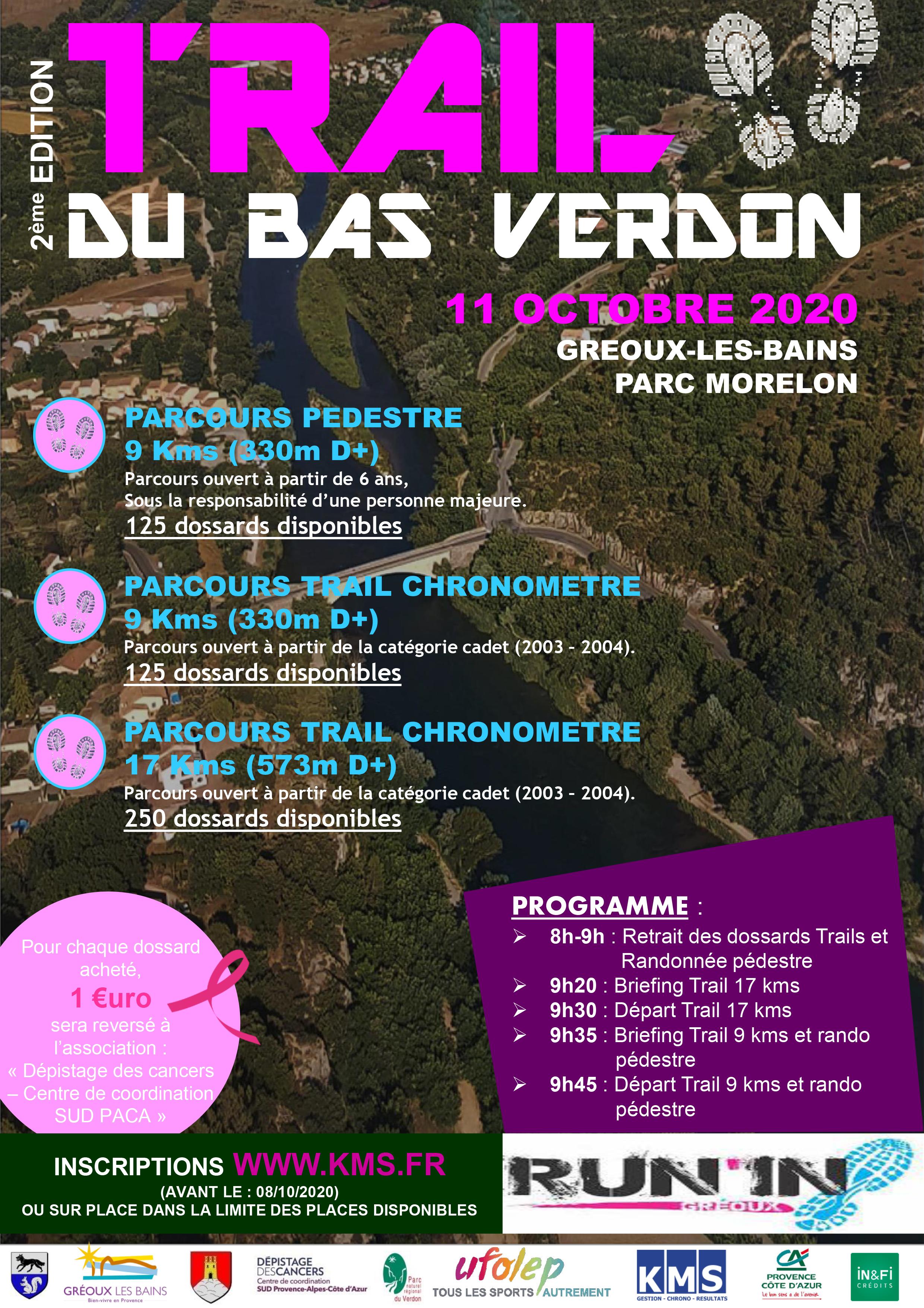 Affiche Trail du Bas Verdon