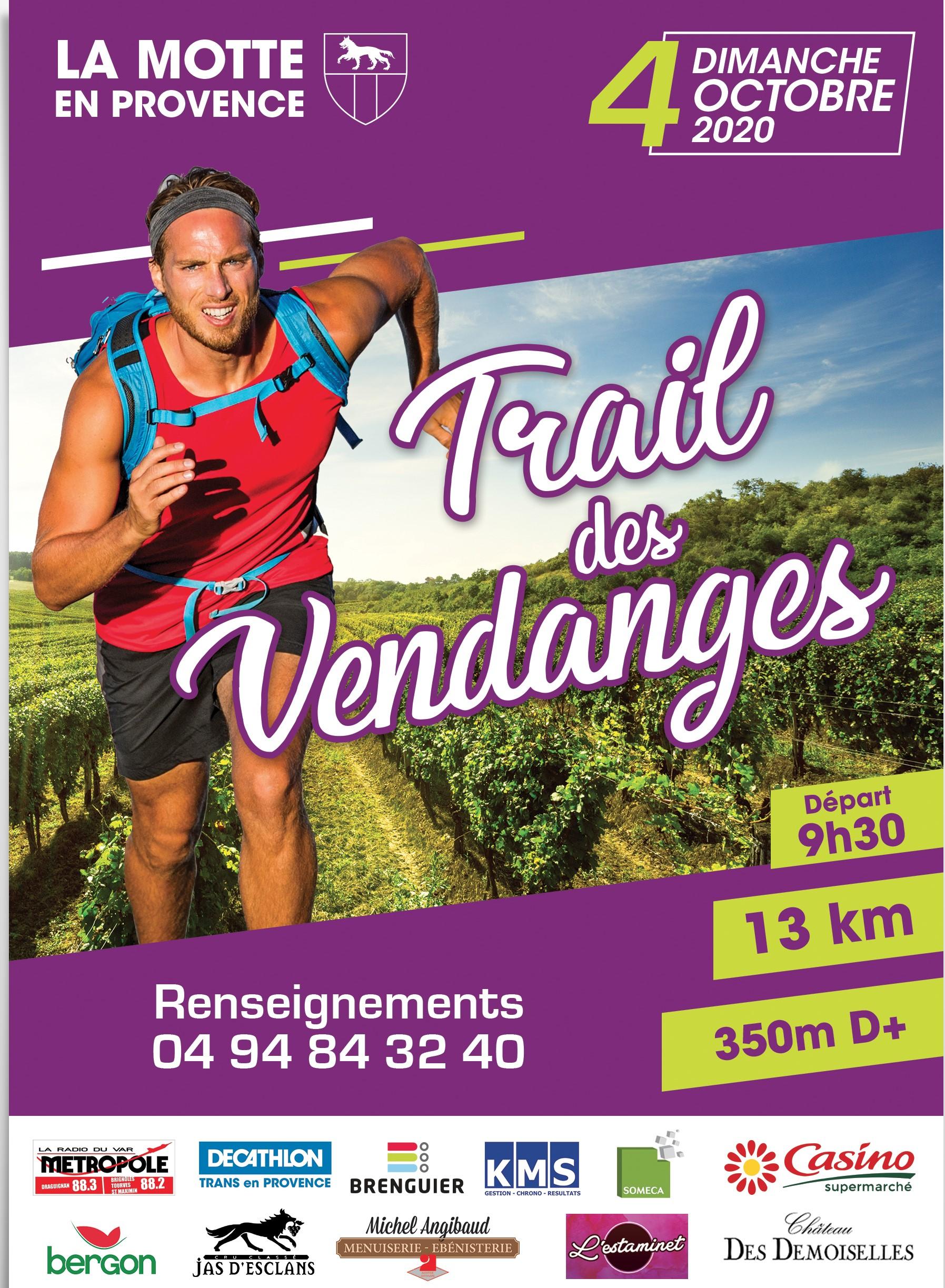 Affiche Trail des Vendanges