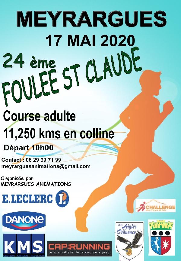Affiche LA FOULEE SAINT CLAUDE