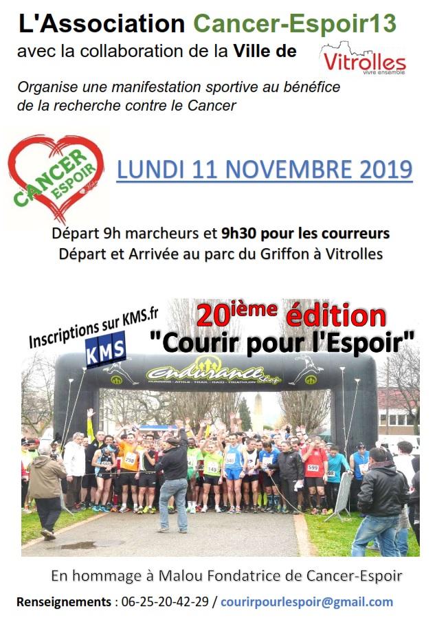 Courir pour l'espoir - Course 10km