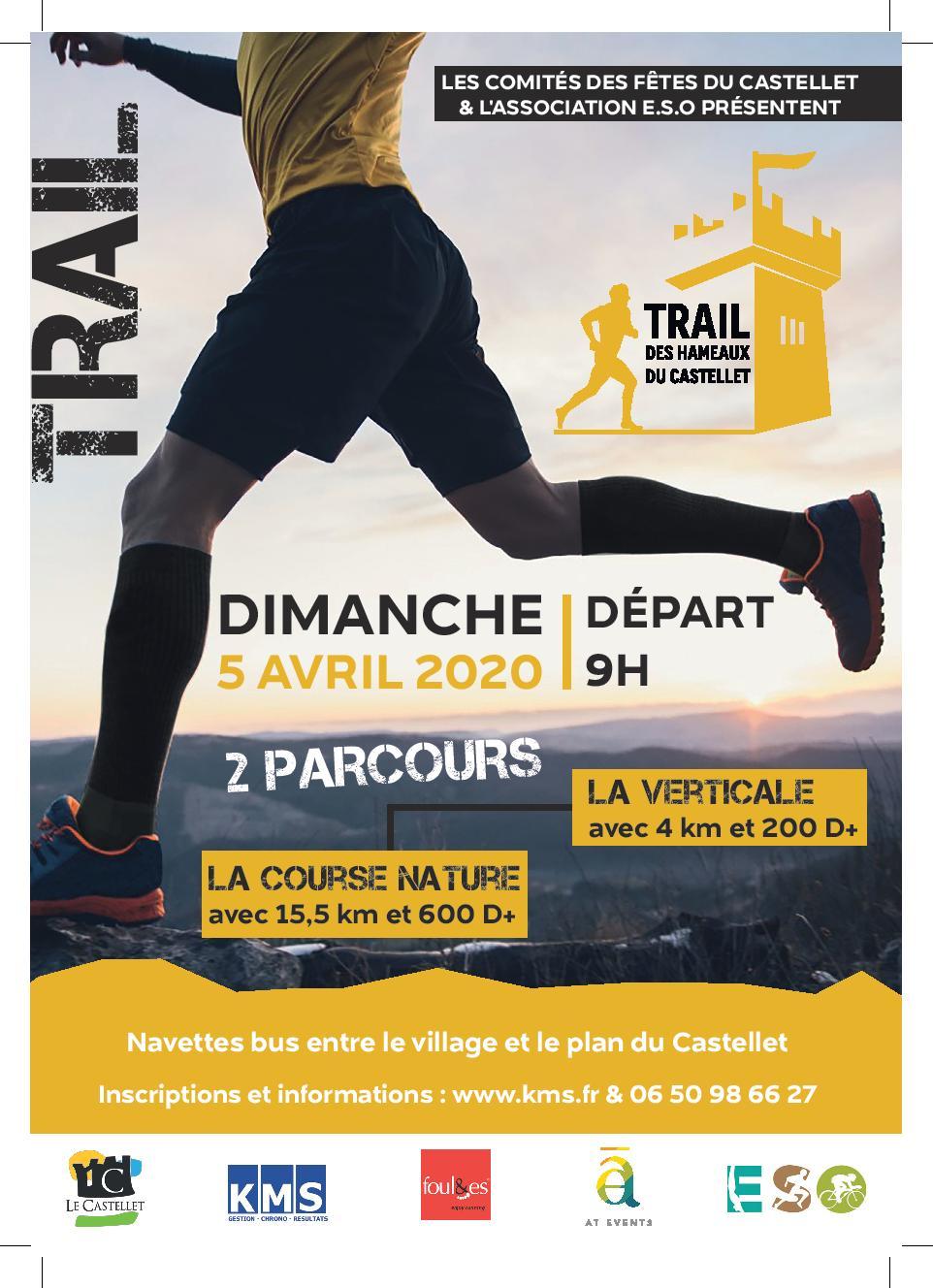 Affiche TRAIL DES HAMEAUX DU CASTELLET