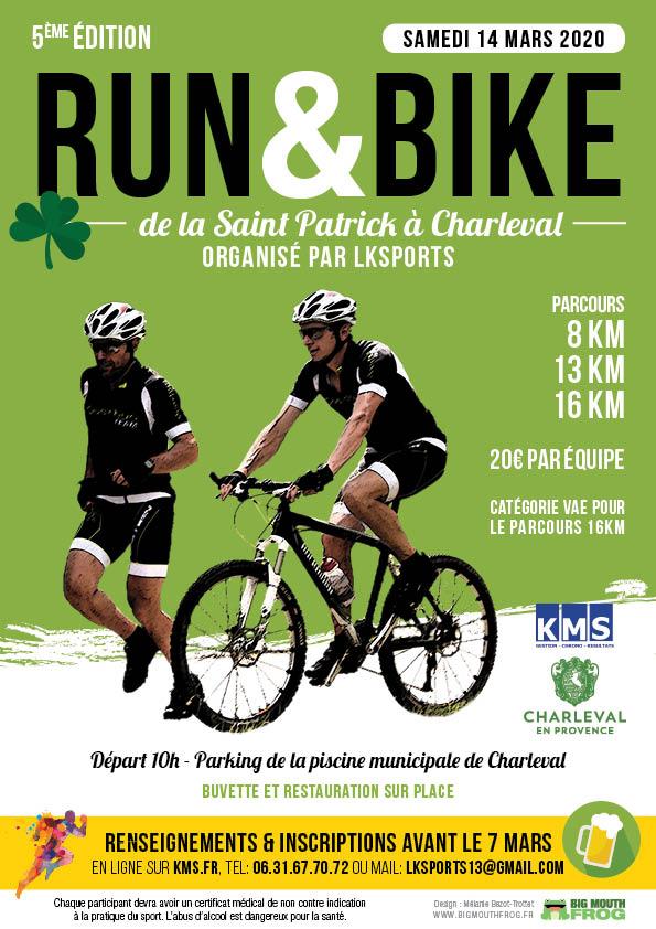 Affiche Run&Bike de la Saint Patrick
