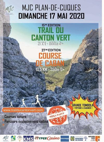 Affiche TRAIL du CANTON VERT et Course de CABAN