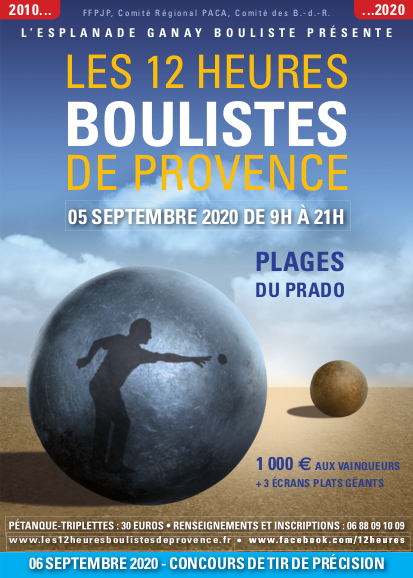 Affiche Les 12 heures boulistes de Provence